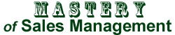 Mastery of Sales Management